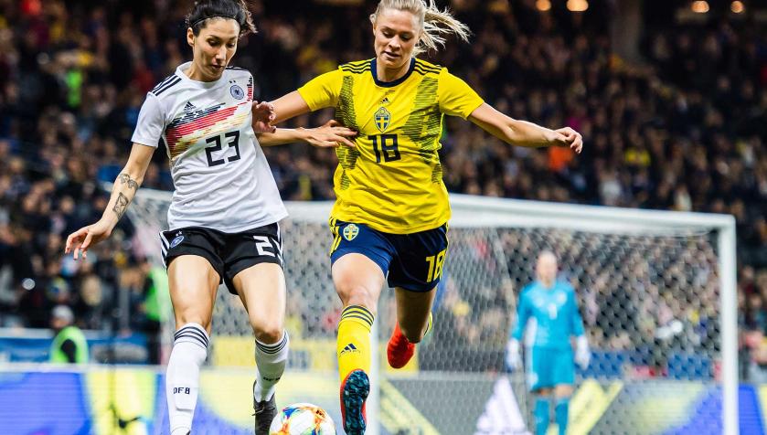 Record de spectateurs pour un match féminin en Suède battu samedi dernier