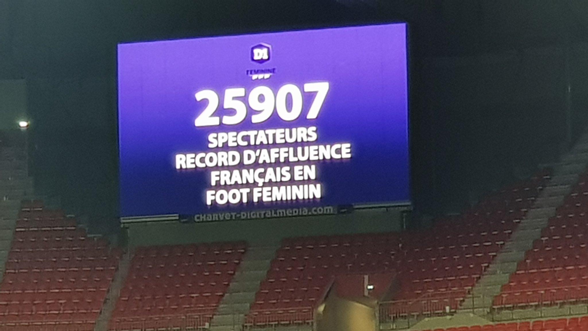 25 907 : Le record d'affluence pour un match féminin en France est tombé