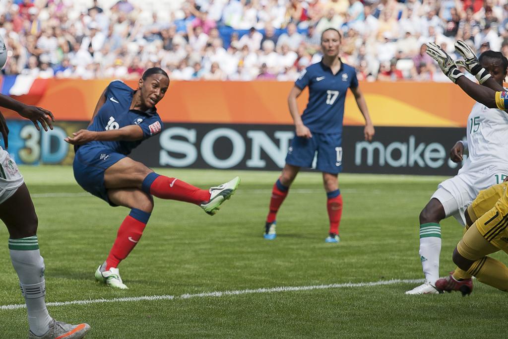 En 2011, Delie avait marqué le premier but des Bleues lors de la compétition face au Nigeria (photo Eric Baledent/FOF)