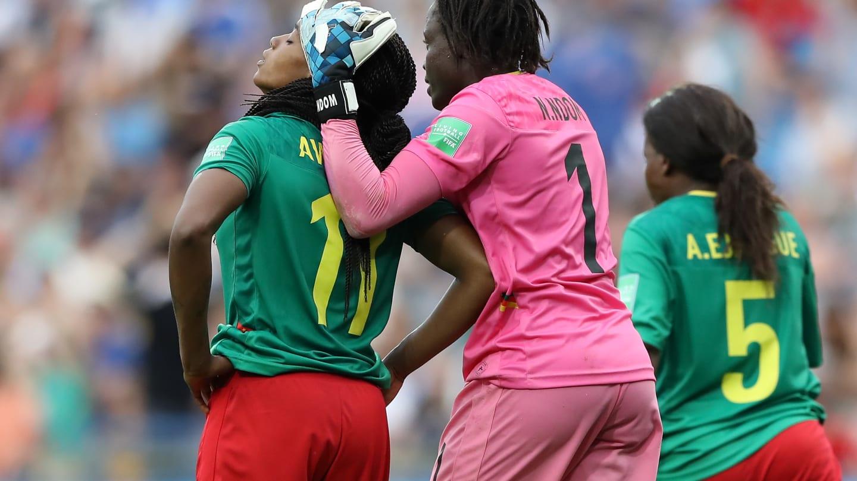 Awona malheureuse lors de l'égalisation (photo FIFA.com)