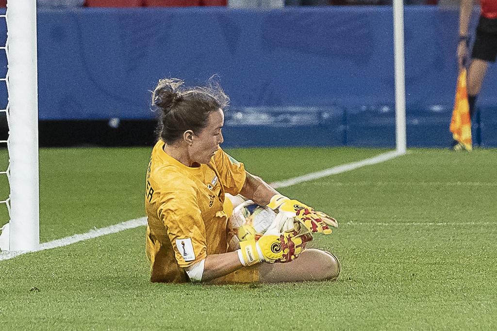 La gardienne écossaise face à l'Argentine (photo Eric Baledent/FOF)