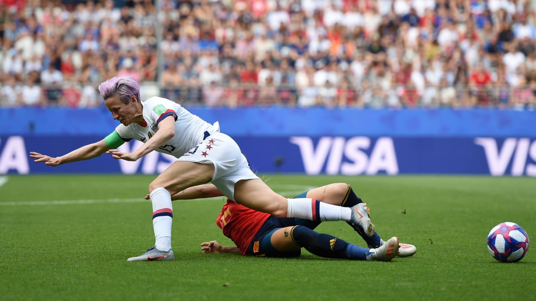 Rapinoe a inscrit les deux penalties qui qualifient les Etats-Unis (photo FIFA.com)