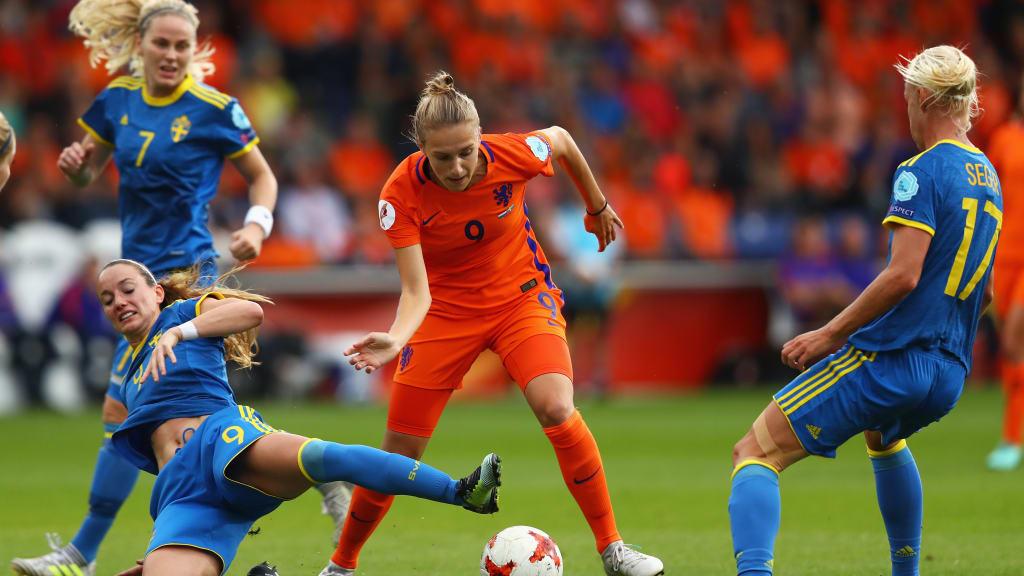 Miedema et les Pays-Bas retrouvent la Suède (photo UEFA.com)