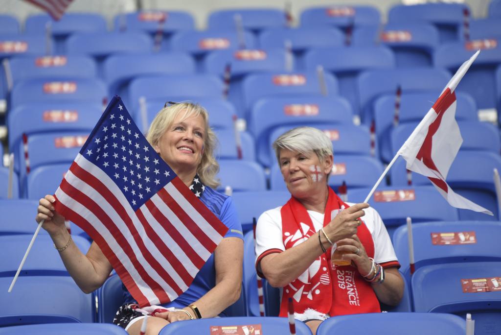 Supportrices américaines mardi soir (photo Eric Baledent)