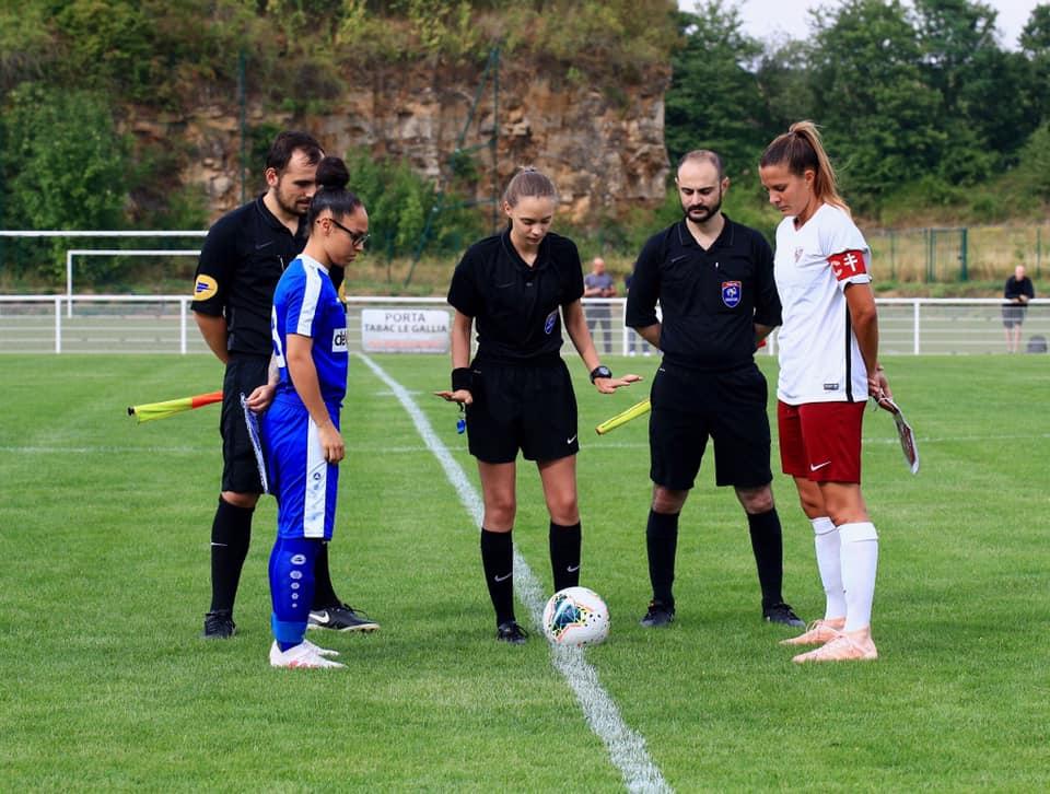 La capitaine Mélissa Godart lors du premier match de préparation (photo DR)