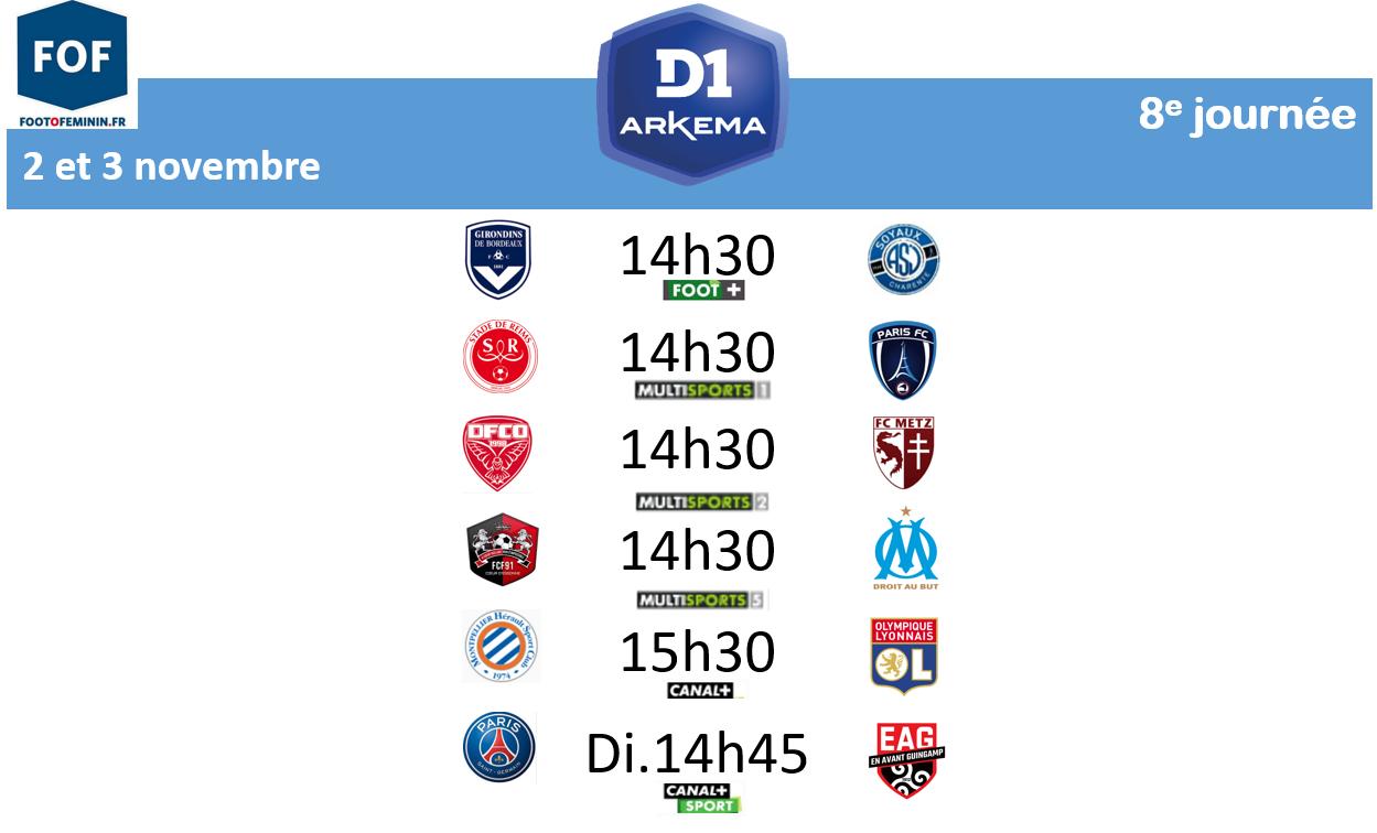 #D1Arkema - Le programme de la 8e journée : Montpellier reçoit l'OL, Dijon - Metz pour une première victoire ?
