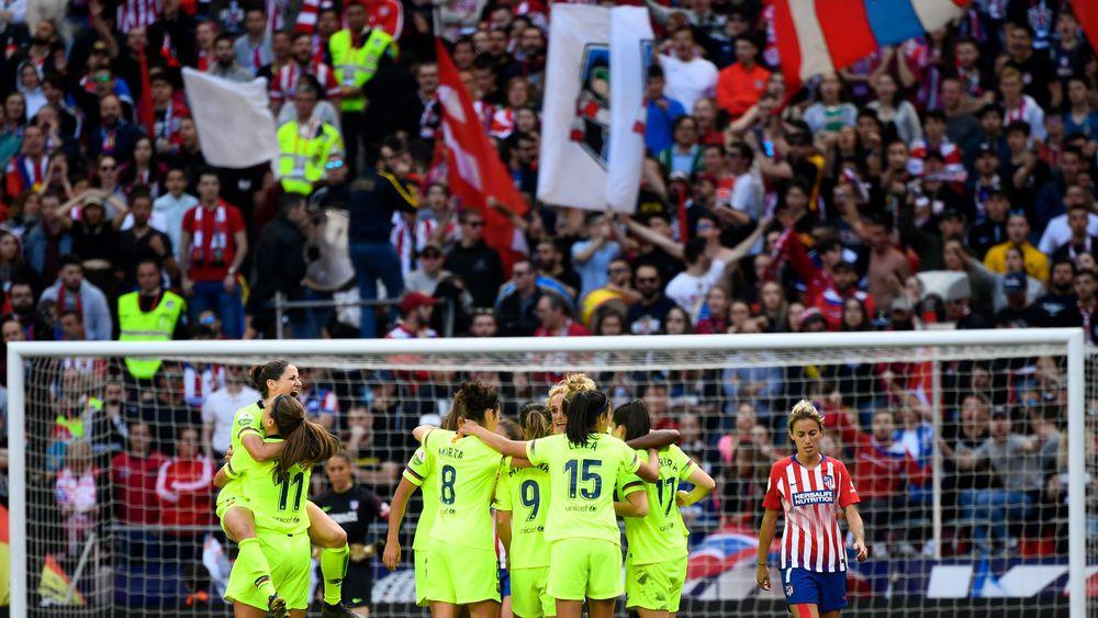 Le duel Atlético - Barça en mars dernier a établi le record de matchs entre clubs à plus de 60 000
