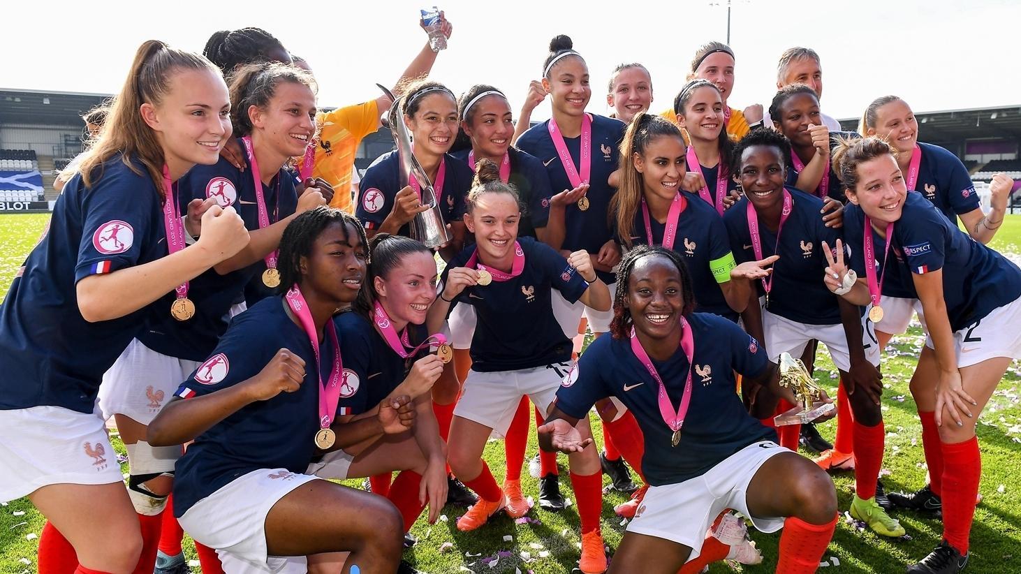 Les U19, championnes d'Europe, attendent désormais la Coupe du Monde qui aura lieu 18 mois après leur titre ! (photo UEFA)