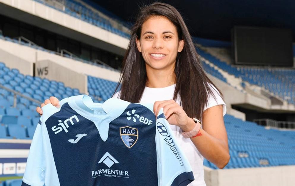 Francisca Lara compte 59 sélections avec le Chili et arrive d'Espagne (photo HAC foot)