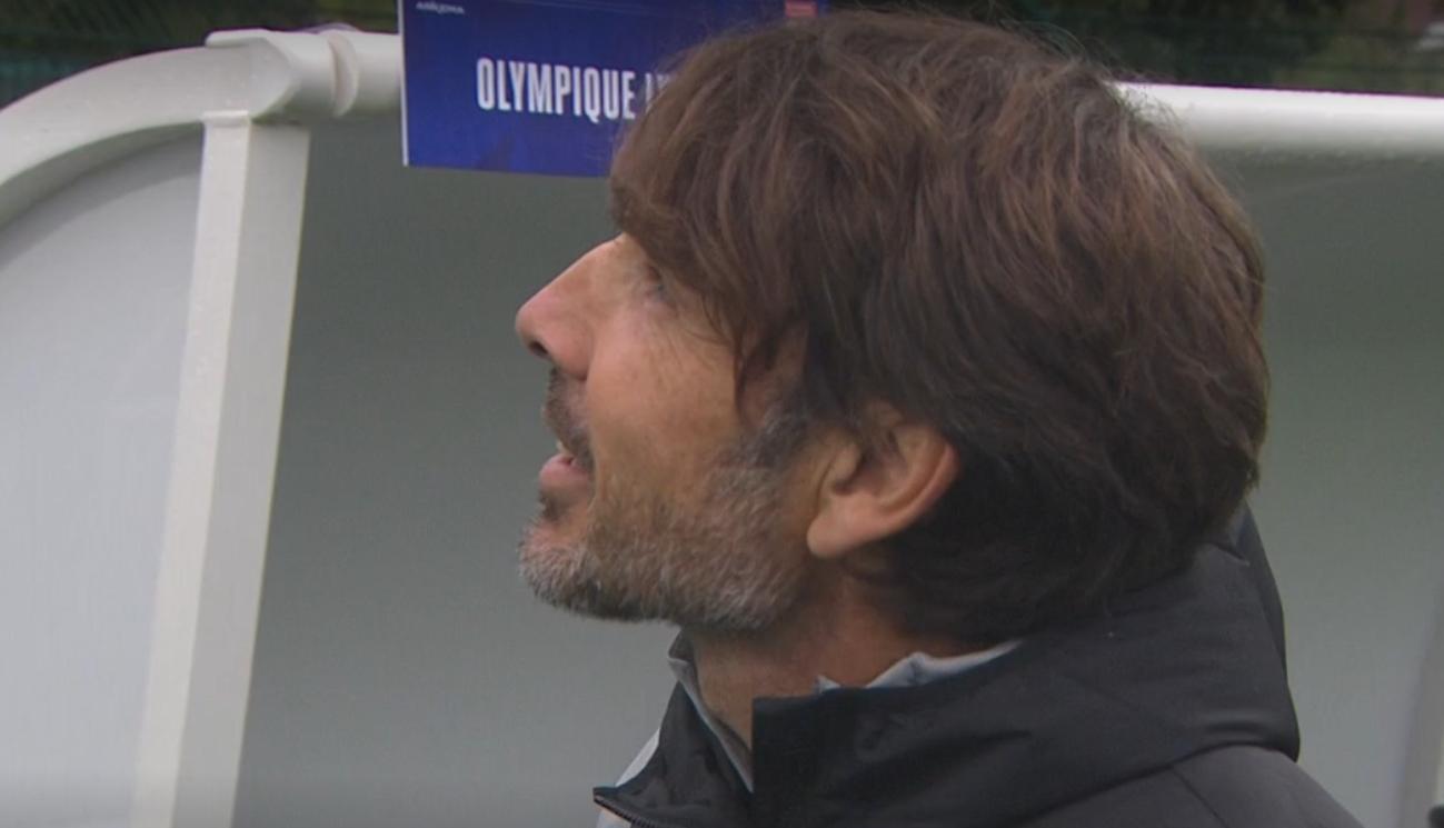 Vasseur et l'OL regardent toujours vers le haut (capture Canal + Sport)