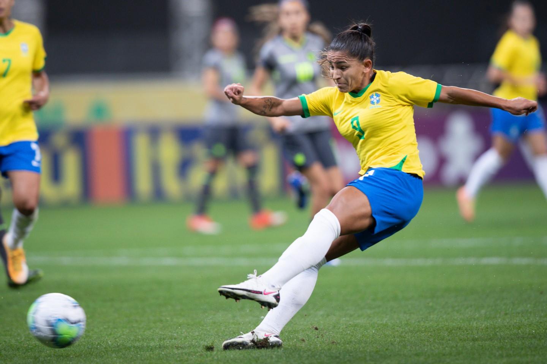 Debinha a marqué la moitié des buts du Brésil qui n'a plus joué depuis le Tournoi de France (photo CBF)