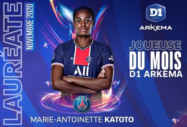 #D1Arkema - Marie-Antoinette KATOTO joueuse du mois de novembre