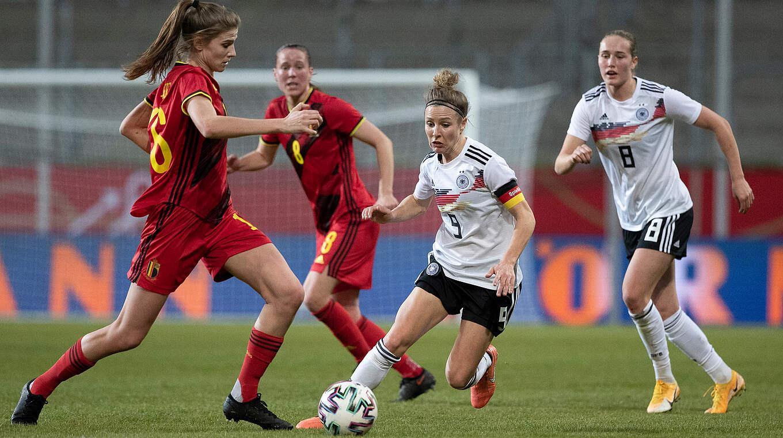 Svenja Huth a ouvert le score pour l'Allemagne (photo DFB)