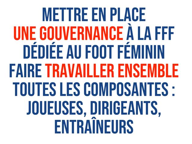 Une gouvernance dédiée au sein de la FFF proposé par Frédéric Thiriez
