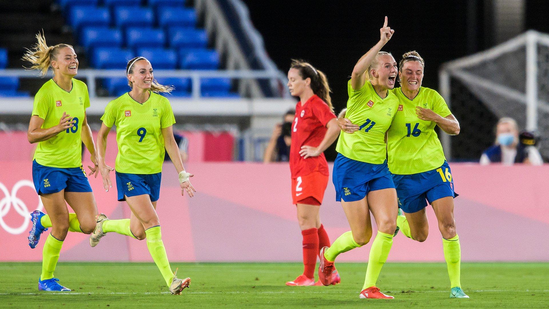 Blackstenius avait permis à la Suède de mener au score (photo SVF)