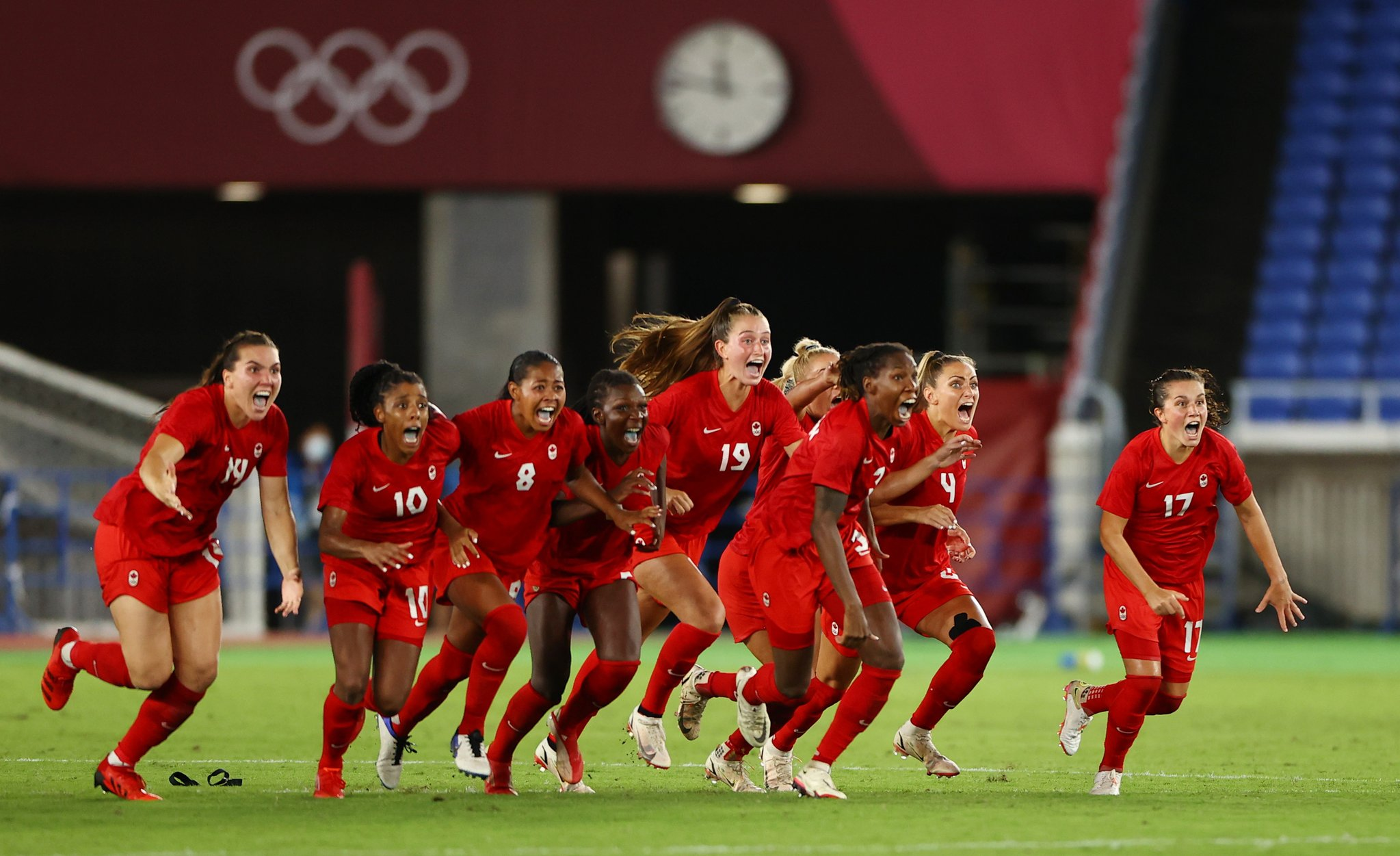 Le Canada est devenue la 4e sélection titrée aux JO (photo Canada Soccer)