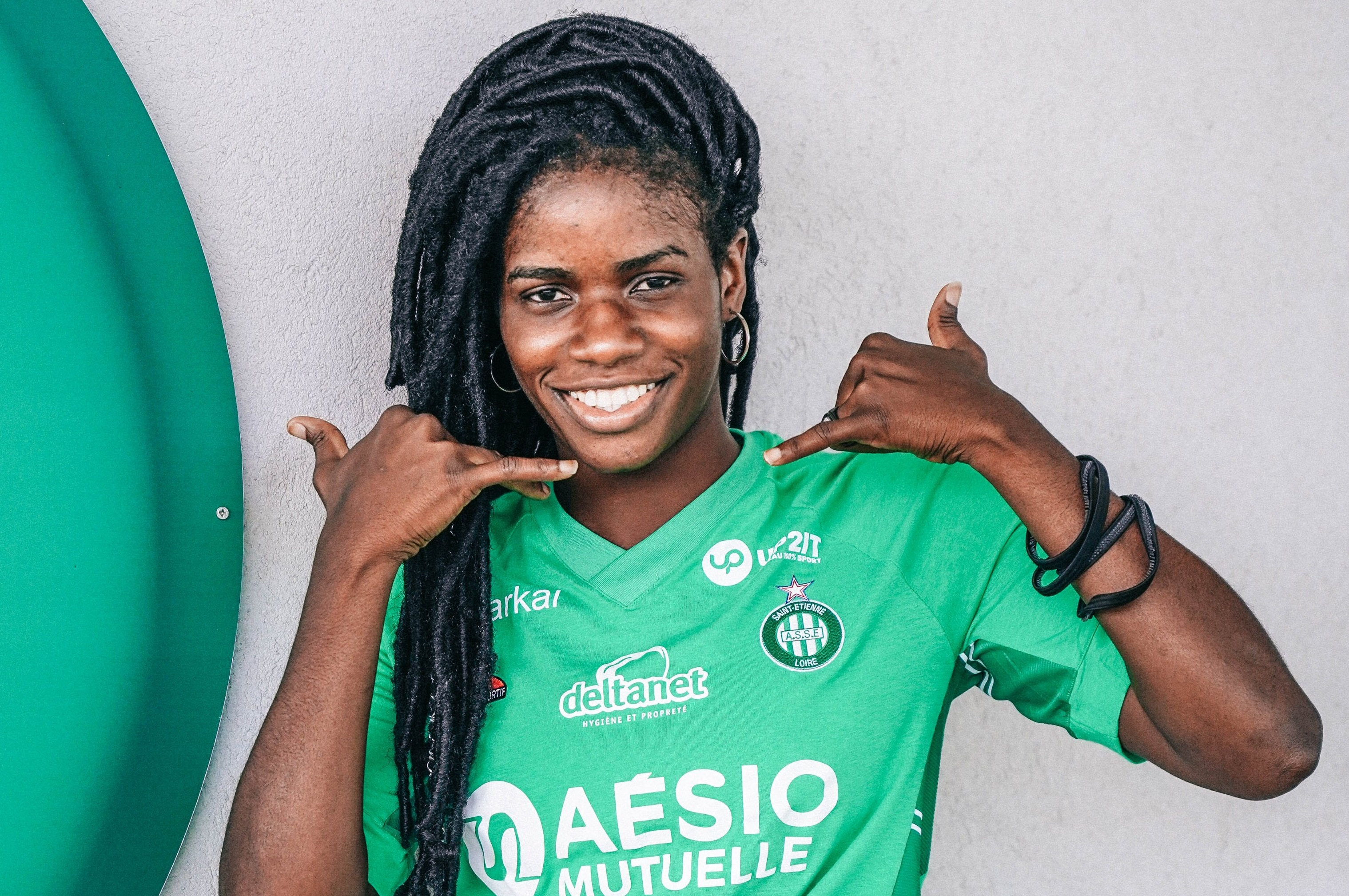 La Nigériane Esther Okoronkwo a marqué pour sa première apparition sous le maillot stéphanois (photo ASSE.fr)