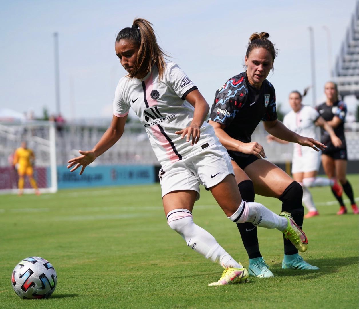 Sakina Karchaoui arrive au PSG après une saison à l'OL (photo PSG)