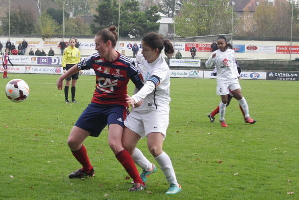 Beau duel entre les deux talentueuses capitaines, Laurie Dacquigny et Sarah Chalabi.