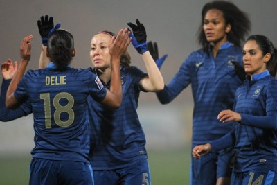 Marie-Laure Delie porte son total à 51 buts en Bleue (photo Fifa.com)