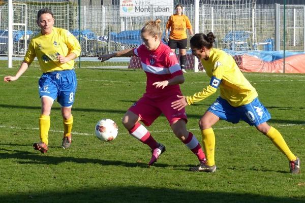 La lutte aura été belle entre les Montalbanaises (en jaune) et les Toulousaines (en rose).
