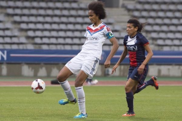 Wendie Renard et les Lyonnaises peuvent mettre Paris à neuf points. (Photo Eric Baledent)