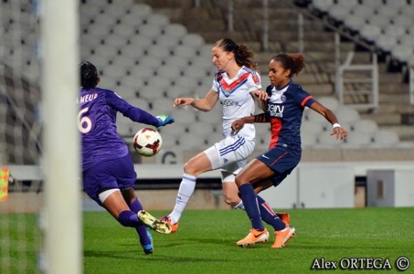 Lotta Schelin et les Lyonnaises veulent relever la tête après la défaite contre Paris il y a deux semaines (Photo : Alex Ortega)