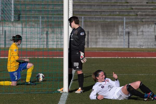 Juvisy net et sans bavure 8-0, ici avec Amélie Coquet ! (photo Eric Baledent)