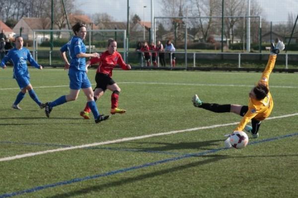 Les Normandes ont rapidement ouvert le score, avant de se faire rejoindre en début de deuxième période (Photo club)