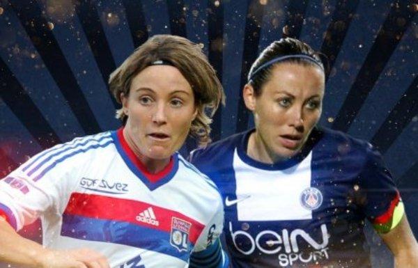 D1 - Sonia BOMPASTOR et Sabrina DELANNOY au coup d'envoi de la Coupe de la Ligue !