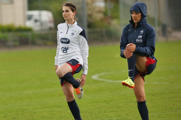 Marion Makuch avec Louisa Necib (photo FFF)