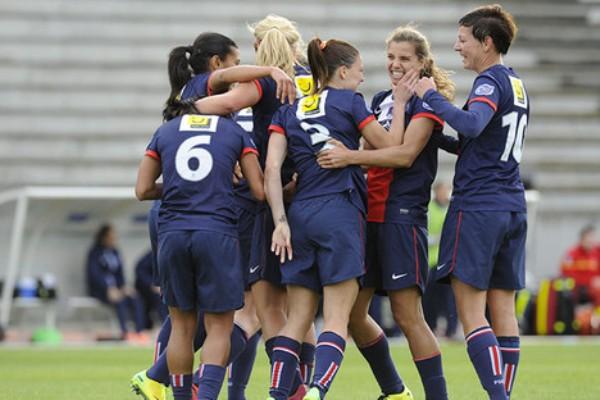 Les Parisiennes joyeuses ! (photo psg)