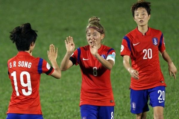 Les Sud Coréennes visent le titre continental (photo fifa)