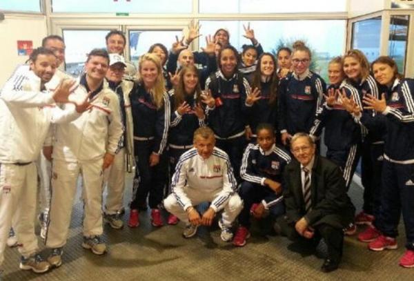 Les filles plus fortes que les garçons ! Les Lyonnaises ont conquis un huitième sacre d'affilée samedi à Guingamp (photo : olweb)