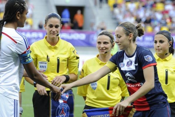 Sabrina Delannoy, déçue mais déterminée à l'issue de cette défaite (crédit : Team Pics/PSG)