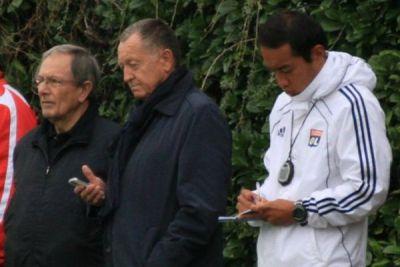 Aux côtés de Jean-Michel Aulas à la Plaine des Jeux de Gerland (photo Romain Biard)