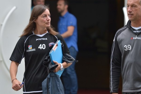 Corinne Diacre prend ses marques (Photos Clermont Foot)