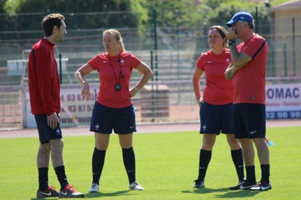La préparation de la Coupe du Monde a débuté en juin, ici à Amnéville avec le staff (photo LLF)
