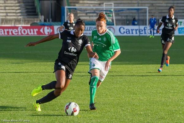Kadidiatou Diani, qui s'est engagée dans la semaine trois ans de plus à Juvisy, a été passeuse décisive sur le premier but (photo W Morice/FCFJ)