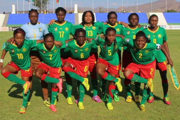 Yvonne Leuko (n°4), Francine Zouga (n°6), Michelle Ngono Mani (n°9) et Grace Yango (n°10) évoluent en France (photo CAF)