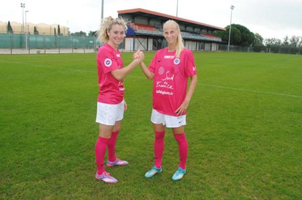 Les maillots roses montpelliérains sont en vente aux enchères (photo MHSC)