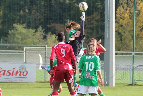 Pauline Peyraud-Magnin et Issy ont tenu face à la pression verte (photo ASSE féminines)
