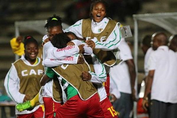 Le banc camerounais exulte (photo CAF)
