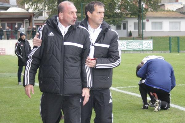 Claude Rioust, à gauche, devant René Devienne, tendu, a parfois laissé exploser sa colère.