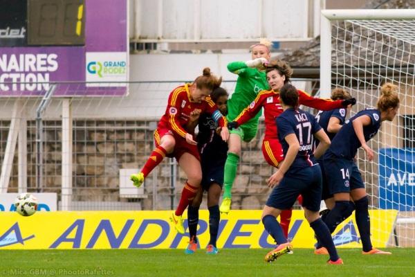 Après l'OL, Rodez a été la deuxième équipe a marquer un but au PSG (crédit Phootorafettes)