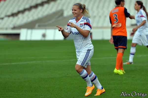 Eugénie Le Sommer signe un doublé devant Montpellier