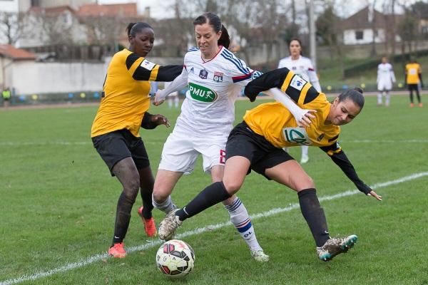 La VGA Saint-Maur a joué sans complexe face à l'OL (crédit : Eric Baledent/LMP)