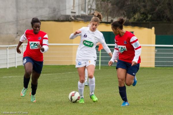 Camille Catala a inscrit les deux premiers buts juvisiens ce dimanche (crédit : FCF Juvisy)
