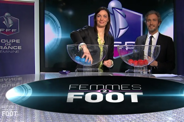 Corinne Diacre et Romain Balland lors de Femmes 2 Foot (source : Eurosport)