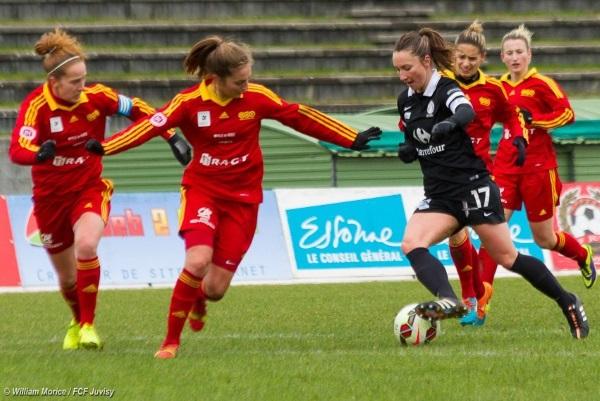 Gaëtane Thiney, passeuse décisive pour Amélie Coquet (photo WM/FCF Juvisy)